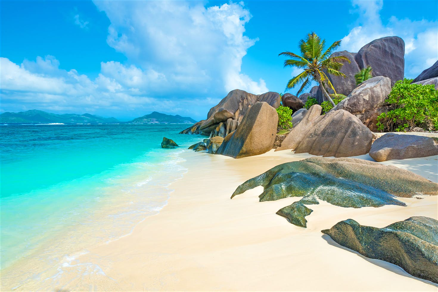 Granitic beach of the seychelles